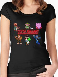 Super Nintendo Women's Fitted Scoop T-Shirt