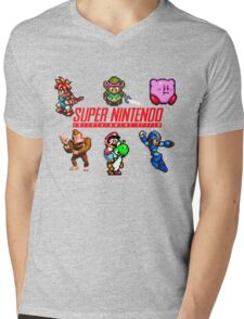 Super Nintendo Mens V-Neck T-Shirt