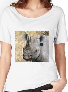 Black Rhino Portrait Women's Relaxed Fit T-Shirt