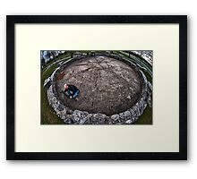 Overhead view of Photographing the photographer Framed Print