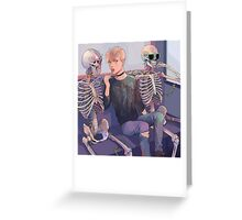 Skeletons Greeting Card