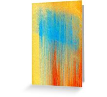 Sky Blue Falls Greeting Card