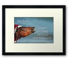 Horsepower for Santa Framed Print