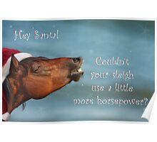 Horsepower for Santa Poster