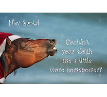 Horsepower for Santa Photographic Print