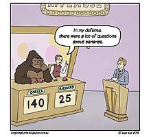 Insert hilarious gorilla/gameshow related pun here. Photographic Print