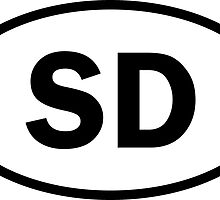 South Dakota - San Diego - SD - oval sticker and more by welikestuff