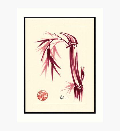 """""""Lovely""""  zen bamboo brush painting Art Print"""