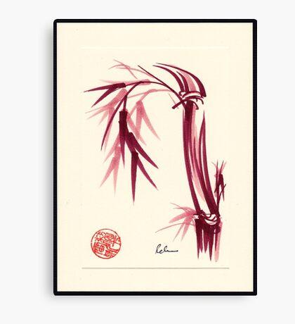 """Lovely""  zen bamboo brush painting Canvas Print"