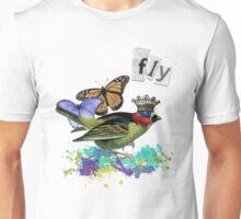 Vintage Bird Altered Art Collage Shirt Unisex T-Shirt