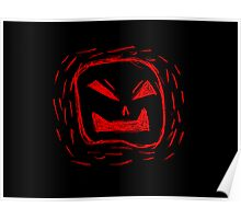 Angry Black And Red Face Poster