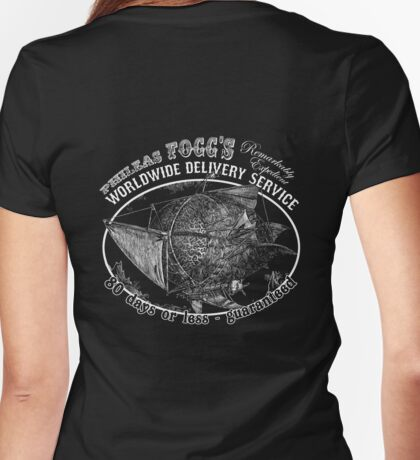 Phileas Fogg's Remarkably Expedient Delivery Service Womens Fitted T-Shirt
