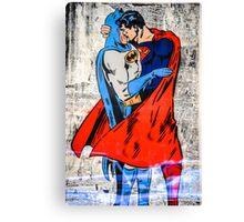 Batman Loves Superman Canvas Print