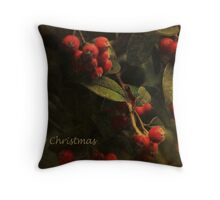 A Merry Berry Christmas Throw Pillow