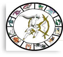 Pokemon Western Zodiac Canvas Print