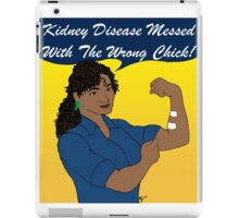 Kidney Disease Has Met Its Match! iPad Case/Skin