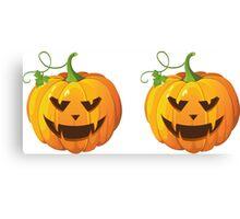 Dual Pumpkins Canvas Print
