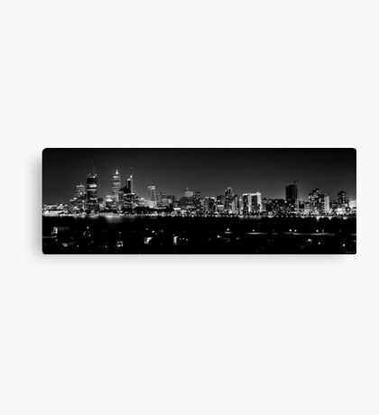 Lights in B&W Canvas Print
