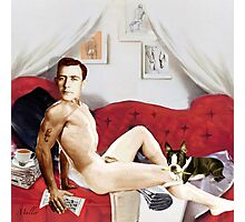 Lazy Sunday Pin up guy Photographic Print