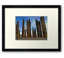 Fort Tilden Driftwood5 Framed Print