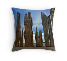 Fort Tilden Driftwood5 Throw Pillow