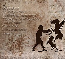 Inspired by a design in package of pudding mix with children on swing silhoutte. by Sandra Foster