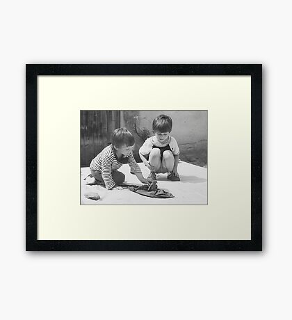 Saving the Silly Wet Chicken Framed Print