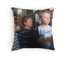 The age of innocence waiting for Christmas Throw Pillow