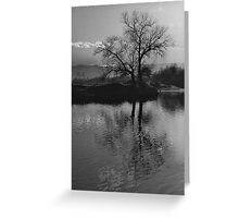 Twilight on Olt River Transylvania Greeting Card