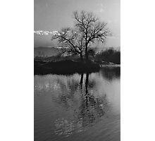 Twilight on Olt River Transylvania Photographic Print