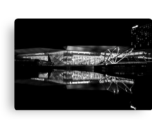 Reflection 1 Black and White Canvas Print