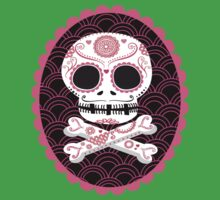 Pink Sugar Skull Vector One Piece - Short Sleeve
