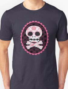 Pink Sugar Skull Vector T-Shirt