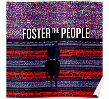 Foster the People Glitch Pattern Poster