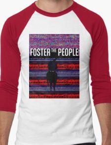 Foster the People Glitch Pattern Men's Baseball ¾ T-Shirt