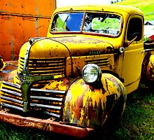 Old Yellow Truck by Chad M