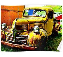 Old Yellow Truck Poster