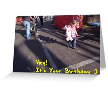 Birthday card with words Greeting Card