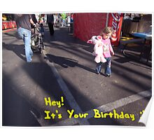 Birthday card with words Poster