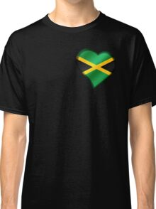 Jamaican Flag - Jamaica - Heart Classic T-Shirt