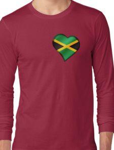 Jamaican Flag - Jamaica - Heart Long Sleeve T-Shirt