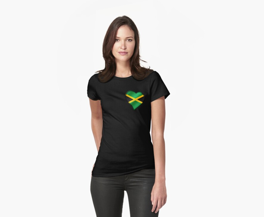 Jamaican Flag - Jamaica - Heart by graphix