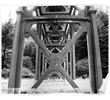 Intricacy....Bridge in Florence, Oregon Poster