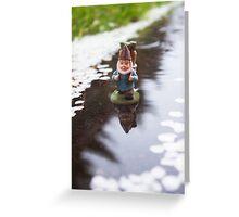River Petals Gnome Greeting Card