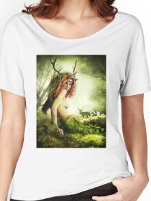 Deer Woman Women's Relaxed Fit T-Shirt