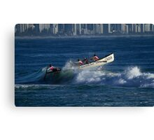 Burleigh Heads - Mowbray Park Surf Boat Crew In Action #2 Canvas Print