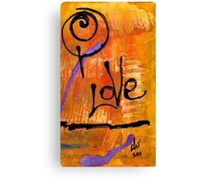 A Whirlwind Called LOVE Canvas Print