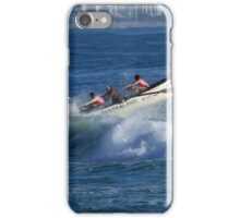 Burleigh Heads - Mowbray Park Surf Boat Crew In Action #1 iPhone Case/Skin