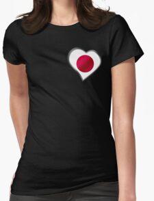 Japanese Flag - Japan - Heart T-Shirt