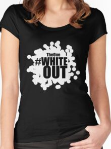 #Whiteout Women's Fitted Scoop T-Shirt
